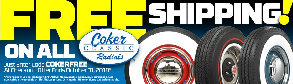 COKERFREE FREE Shipping on Coker Classic Radials