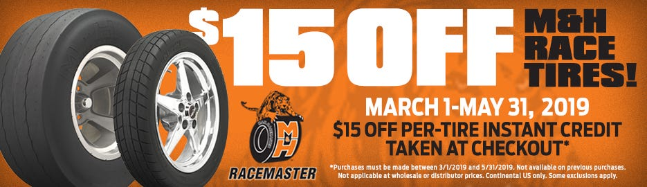 M&H racemaster $15 Instant Off