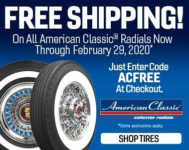 American Classic Free Ship Web Ad 2020