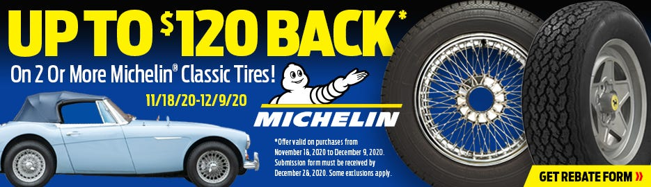 Michelin 120 Holiday Rebate 2020-Lander