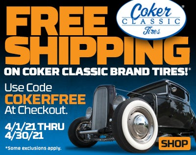 Coker Classic Free Shipping Spring 21-Web Ad