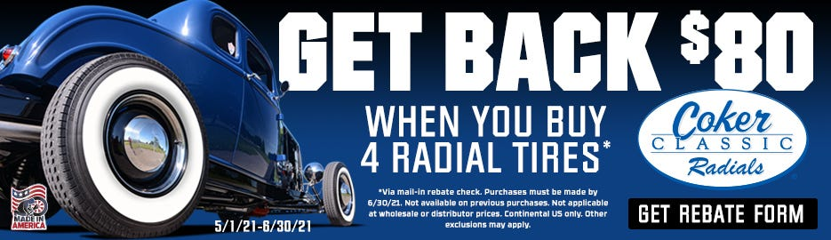 Coker Classic Radial $80 Rebate-Spring 2021-Lander 2