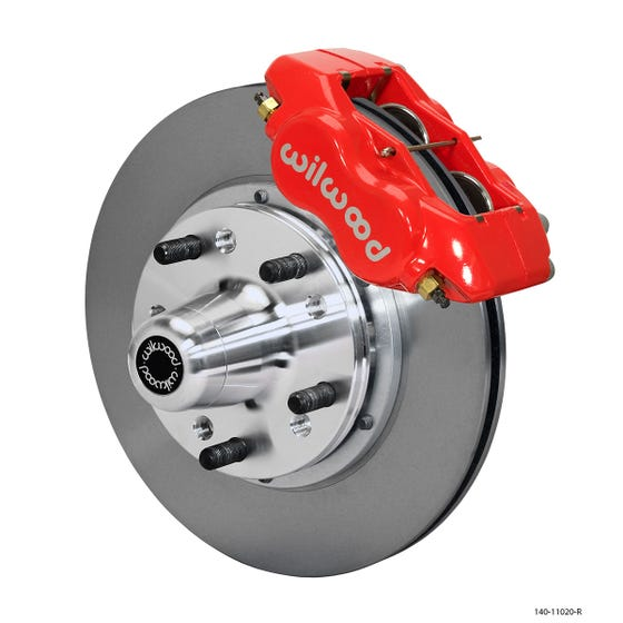 MOPAR Front Disc Brake Kit | 1962-72 B&E body FLDI with drum | Red