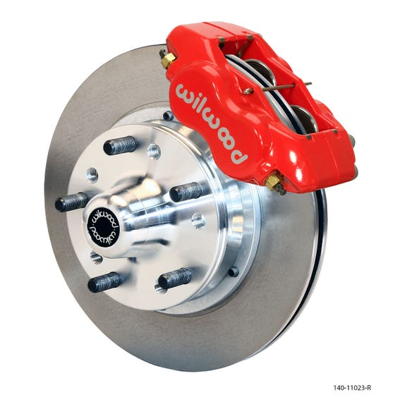 MOPAR Front Disc Brake Kit | 1965-72 A-body with 10in drum FDLI | Red