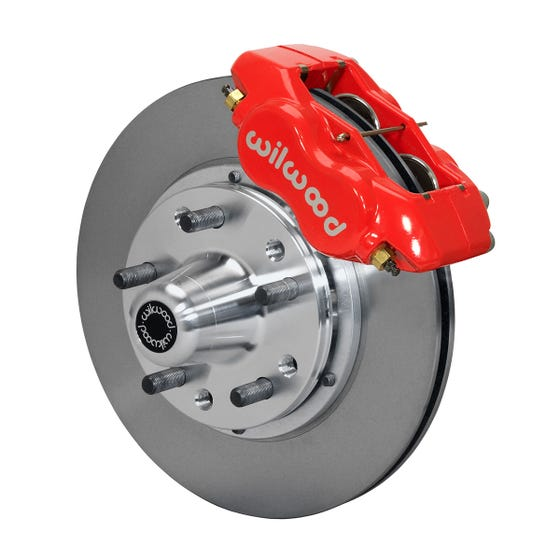 Ford Front Disc Brake Kit | 1970-73 Mustang FDLI 11.00 | Red