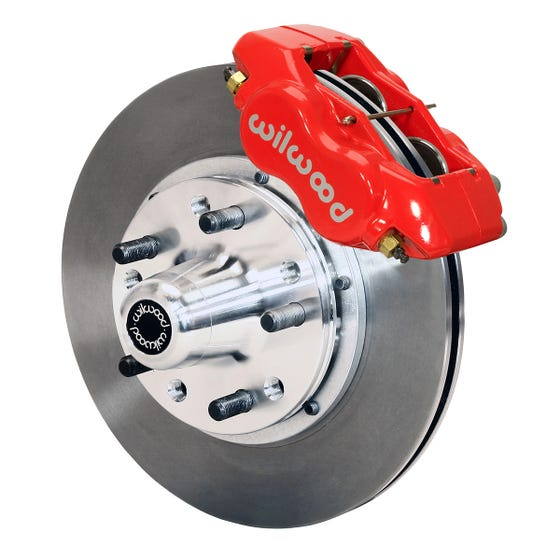 GM Front Disc Brake Kit | 1969-70 Impala with drum & 1968-70 with Disc | Red