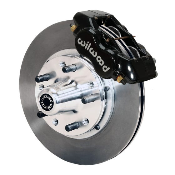 GM Front Disc Brake Kit | 1969-70 Impala with drum & 1968-70 with Disc | Black