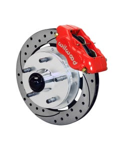 GM Front Disc Brake Kit | 1941-55 Cadillac FDLI 11.75x.81 | Drilled Slotted Red