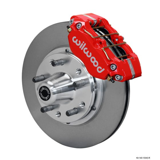 Ford Front Disc Brake Kit | 1965-69 Mustang DP-DB 11.00 | Red