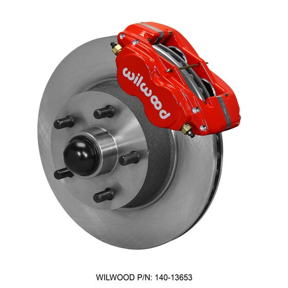 Ford Front Disc Brake Kit | 1960-68 Galaxie drum spindle | Red