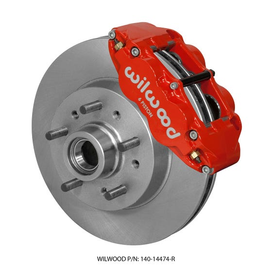 GM Front Disc Brake Kit   1964-70 Chevy C10 Truck FNSL6R   Red