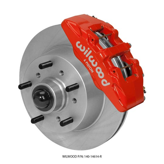 Ford Front Disc Brake Kit | 1968-72 Ford F100 Truck DP6 | Red