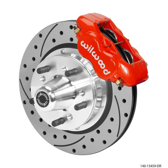 MOPAR Front Disc Brake Kit | 1965-72 Dart/Duster | Drilled Slotted Red