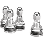 Chrome Valve Stem with Lock Nut (Set of 4)