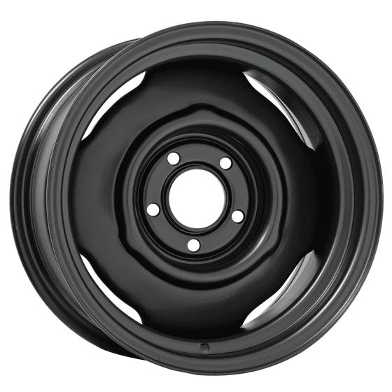 "15x4 Mopar Standard | 5x4"" bolt | 2.50"" backspace | Powder Coat finish"