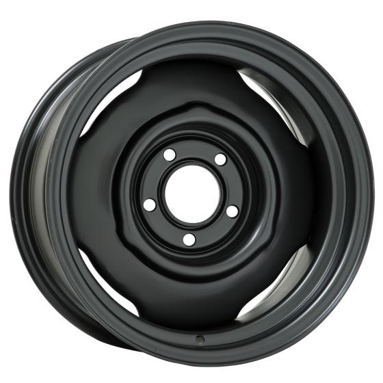 "15x10 Mopar Standard | 5x4 1/2"" bolt | 5.50"" backspace | Powder Coat finish"
