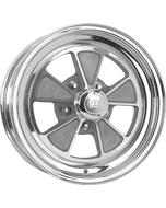 "15x6 1965 Shelby | 5x4 1/2"" bolt | 3.95"" backspace | Aluminum Center/Chrome Outer finish"