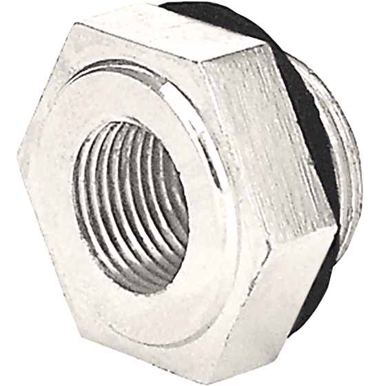 Nickel Reducer Nut   Wood Wheel