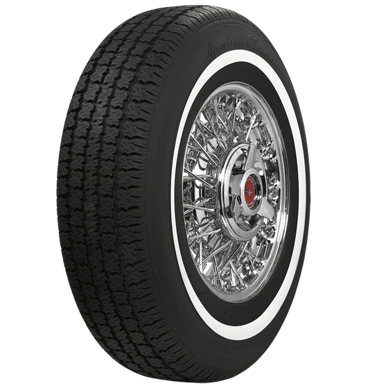 American Classic Radial | 3/4 Inch Whitewall | 195/75R15