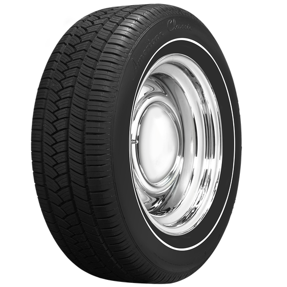 American Classic Radial | 3/8 Inch Whitewall Tire | 235/60R16