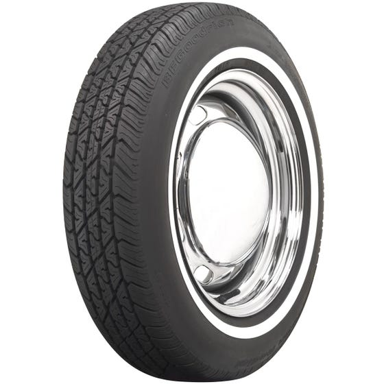 BF Goodrich Silvertown Radial | 3/4 Inch Whitewall | 165R15 | Radial Tires