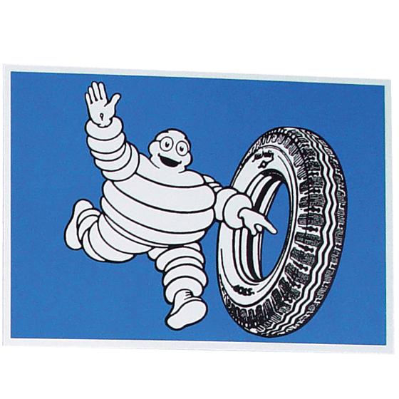 Postcard | Michelin | Bib rolling a Tire