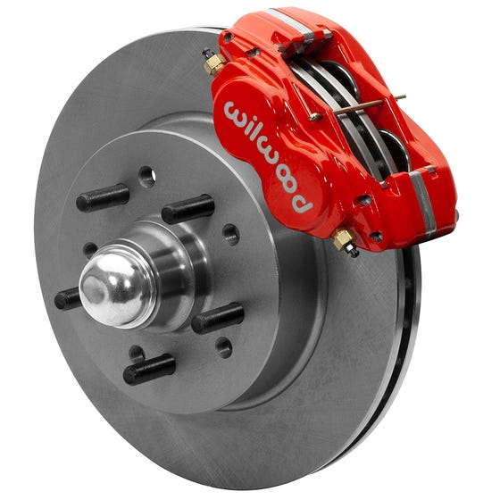 GM Front Disc Brake Kit | 1955-57 & 1959-64 Chevy & 1963-64 Corvette | Red