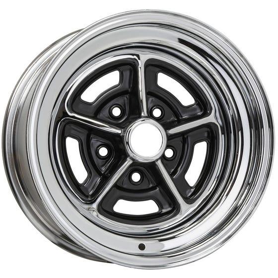 "14x6 Buick Rallye | 5x4 3/4"" bolt | 3.50"" backspace | Chrome finish"