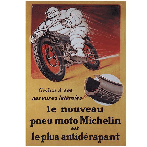 Metal Sign | Vintage Bibendum Moto