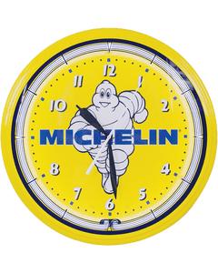 Clock | Michelin Vintage Style Neon | Mr. Bib Running with Logo