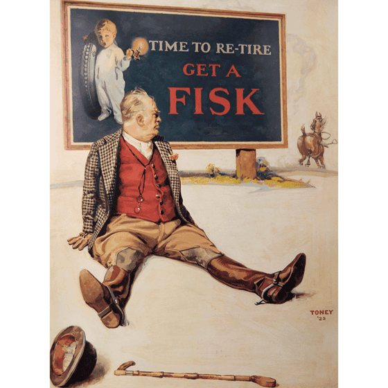 Poster | Fisk | Man with Horse Running Away