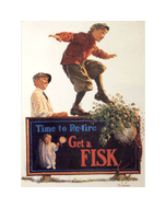 Poster | Fisk | Kid Balancing on Sign