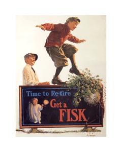 Poster | Fisk | Kid Balancing on Sign