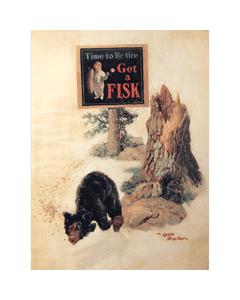 Poster | Fisk | Bear Running From Bees
