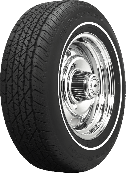 BF Goodrich Silvertown Radial | 3/8 Inch Whitewall | 225/70R15