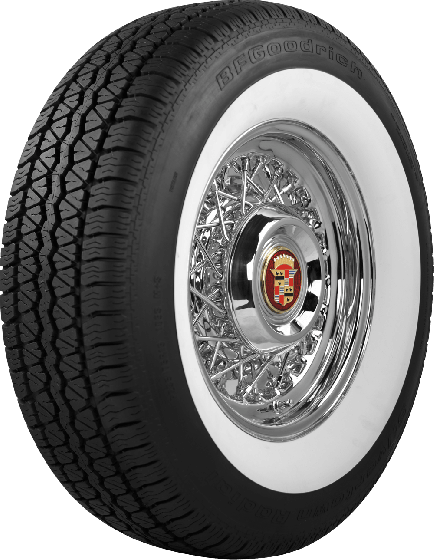 BF Goodrich Silvertown Radial | 2 7/8 Inch Whitewall | 185/80R13