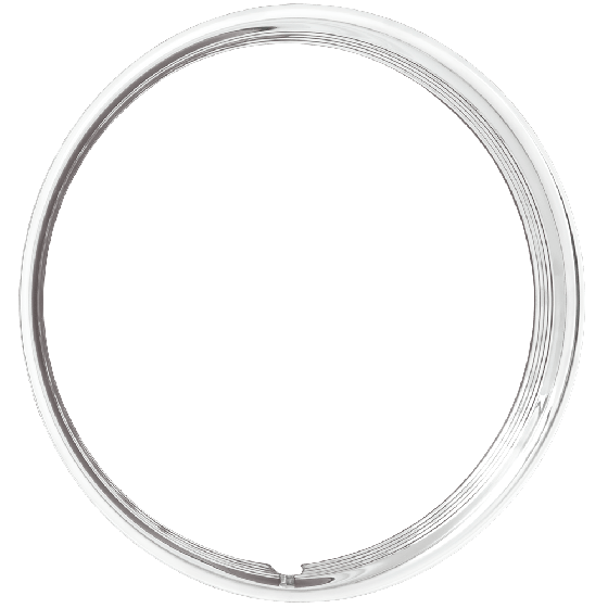 Trim Ring | 16 Inch x 1.5 inch Hot Rod Ribbed