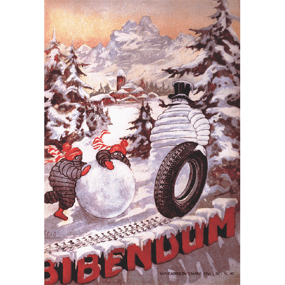 Poster | Michelin | Vintage Bib the Snowman