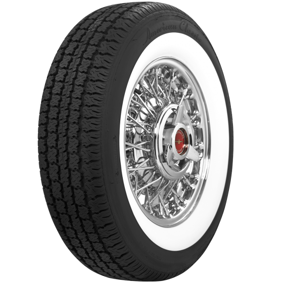 American Classic Radial | 2 3/8 Inch Whitewall | 205/75R14