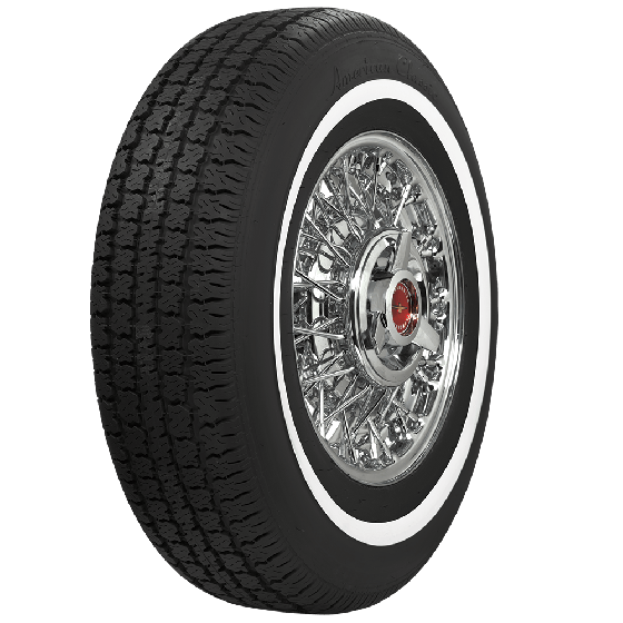 American Classic Radial | 1 Inch Whitewall | 205/75R14
