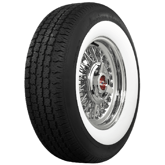 American Classic Radial | 2 3/4 Inch Whitewall | 225/75R15