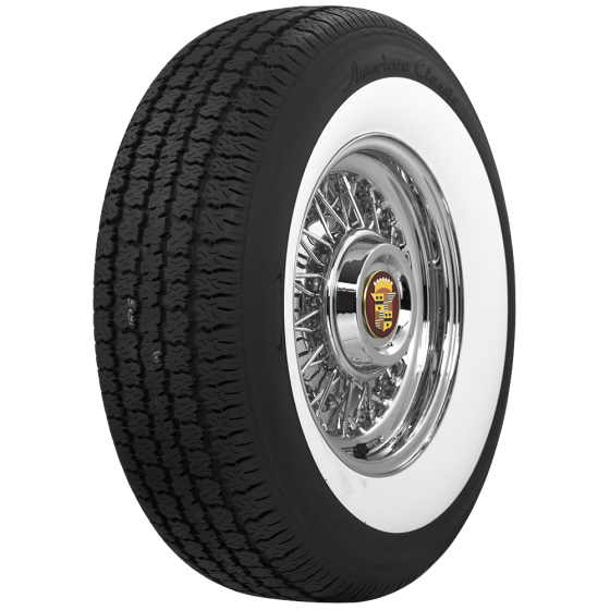 American Classic Radial | 2 3/8 Inch Whitewall | 235/70R16