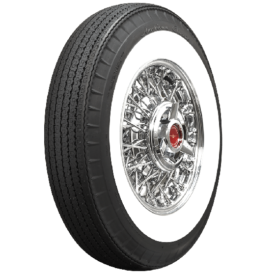 American Classic Radial | 2 1/4 Inch Whitewall | 650R13