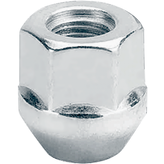 Open-End Acorn Style Lug Nut | 12mm 3/4 Hex