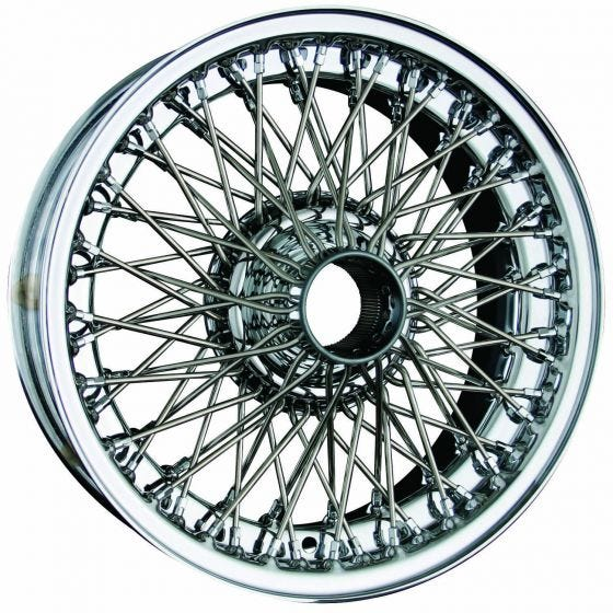 15x5 Dayton Wire 72 Spoke Chrome TT