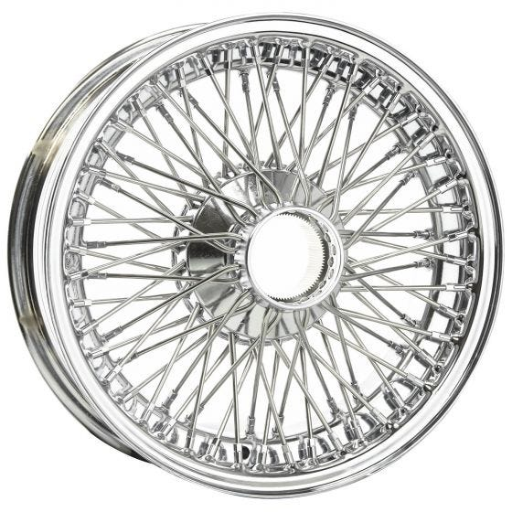 15x6 Dayton Wire 72 Spoke Chrome TBLS