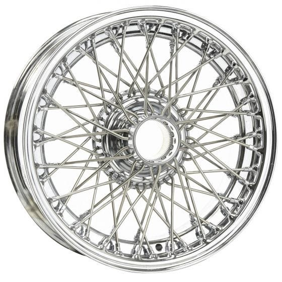 15x5 Dayton Wire 60 Spoke Chrome TBLS