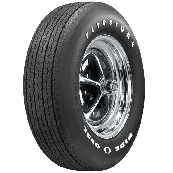 The Firestone Wide Oval Radial offers fitments of most muscle car applications