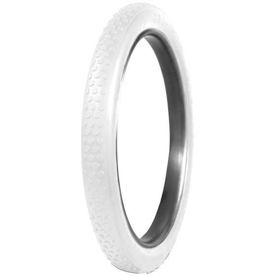 G&J Button Tread Motorcycle Tires | White