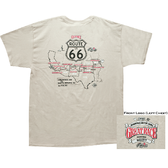 Great Race 2015 Route 66 Map Shirt